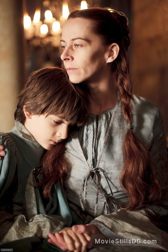 Game of Thrones - Publicity still of Kate Dickie & Lino Facioli