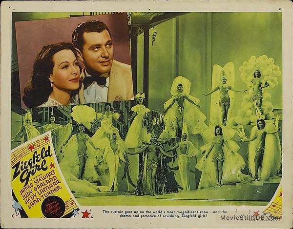 Ziegfeld Girl - Lobby card with Hedy Lamarr
