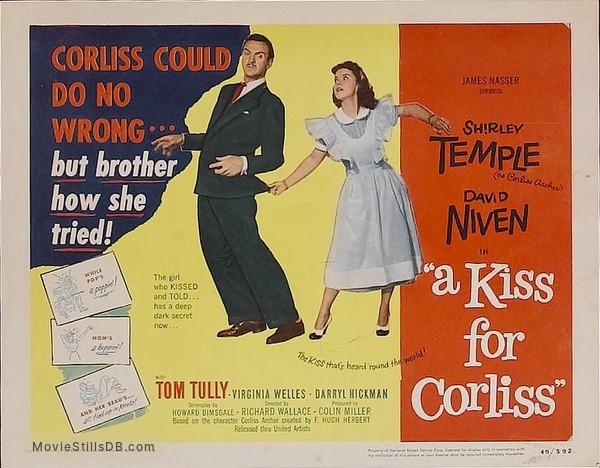 A Kiss for Corliss - Lobby card