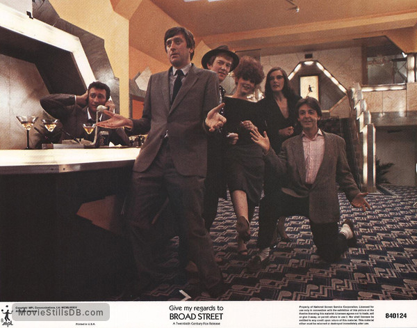 Give My Regards to Broad Street - Lobby card with Bryan Brown, Paul McCartney, Philip Jackson & Amanda Redman
