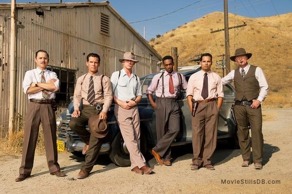 Gangster Squad - Publicity still of Josh Brolin, Ryan Gosling, Anthony Mackie, Giovanni Ribisi, Michael Peña & Robert Patrick