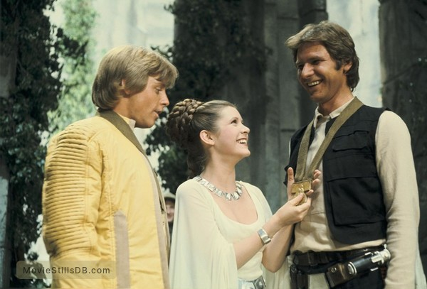 Star Wars - Publicity still of Carrie Fisher, Harrison Ford & Mark Hamill