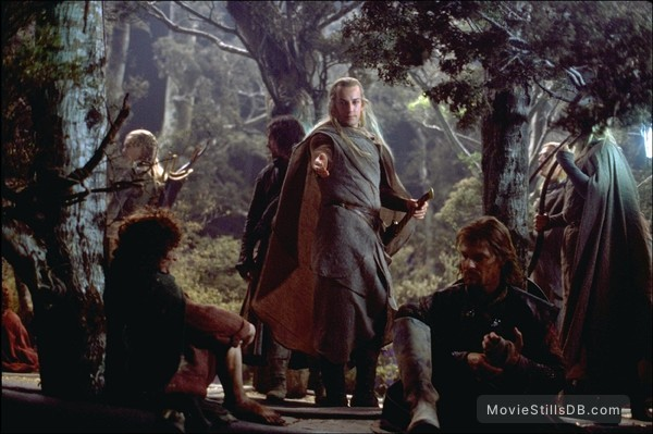 The Lord of the Rings: The Fellowship of the Ring - Publicity still of Elijah Wood, Sean Bean, Craig Parker & Viggo Mortensen