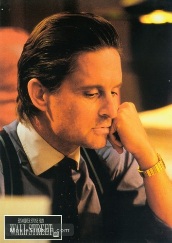 Wall Street - Lobby card with Michael Douglas