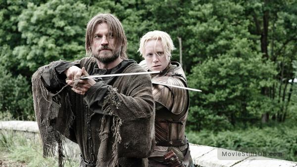 Game of Thrones - Publicity still of Gwendoline Christie & Nikolaj Coster-Waldau