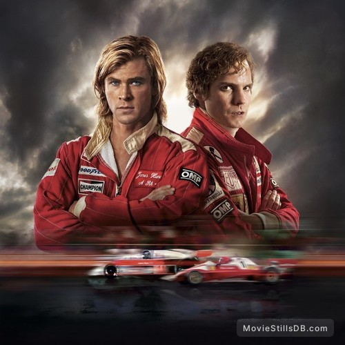 Rush - Promotional art with Chris Hemsworth & Daniel Brühl