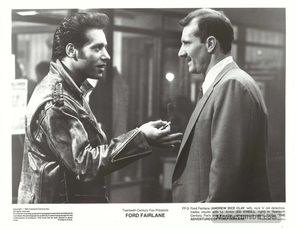The Adventures of Ford Fairlane - Lobby card with Andrew Dice Clay & Ed O'Neill
