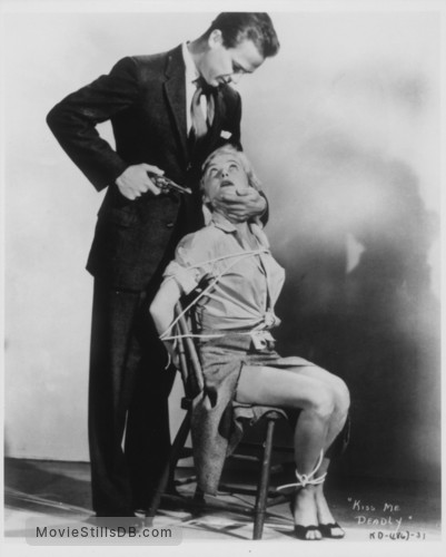 Kiss Me Deadly - Publicity still of Ralph Meeker & Gaby Rodgers