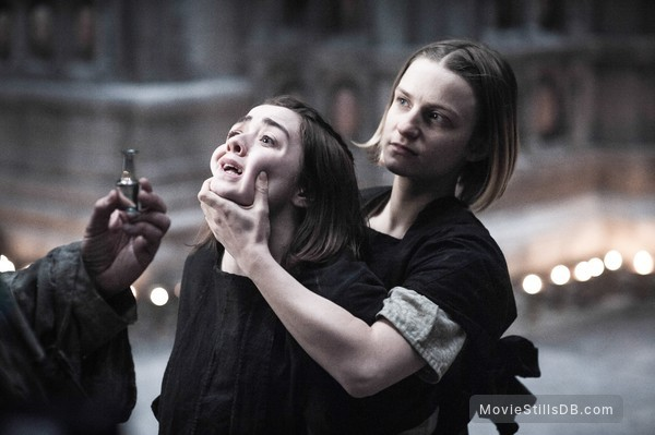Game of Thrones - Publicity still of Maisie Williams & Faye Marsay