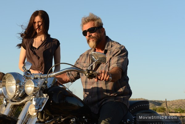 Blood Father - Publicity still of Erin Moriarty & Mel Gibson