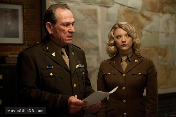 Captain America: The First Avenger - Publicity still of Tommy Lee Jones & Natalie Dormer