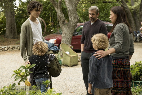 Beautiful Boy - Publicity still of Timothée Chalamet, Steve Carell & Maura Tierney