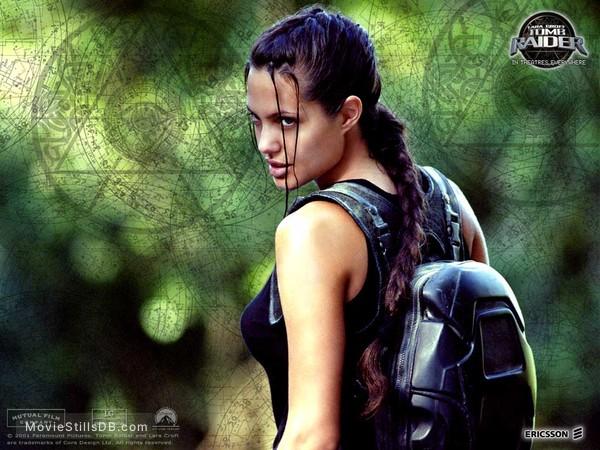 Lara Croft Tomb Raider Wallpaper With Angelina Jolie