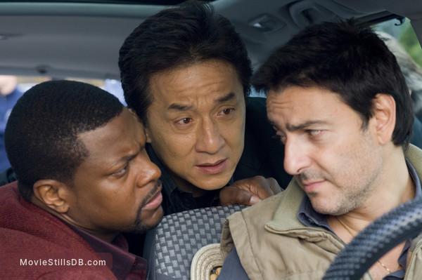 Rush Hour 3 - Publicity still of Jackie Chan, Chris Tucker & Yvan Attal