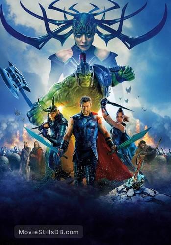 Thor: Ragnarok - Promotional art with Anthony Hopkins, Idris Elba, Jeff Goldblum, Tessa Thompson, Mark Ruffalo, Cate Blanchett, Chris Hemsworth & Tom Hiddleston