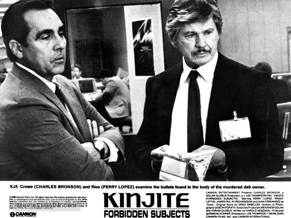 Kinjite: Forbidden Subjects - Publicity still of Charles Bronson & Perry Lopez