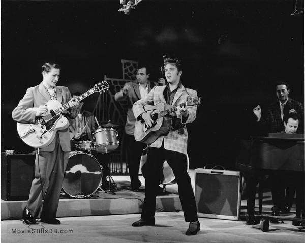 The Ed Sullivan Show - Publicity still of Elvis Presley, Scotty Moore, Bill Black & Dj Fontana