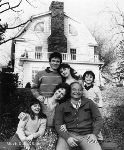 Amityville II: The Possession - Publicity still of Jack Magner, Burt Young, Diane Franklin, Rutanya Alda, Erika Katz & Brent Katz