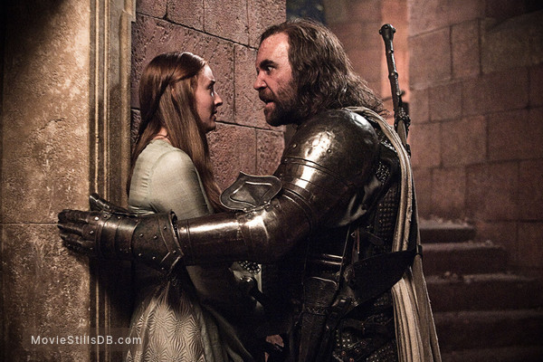 Game of Thrones - Publicity still of Rory McCann & Sophie Turner
