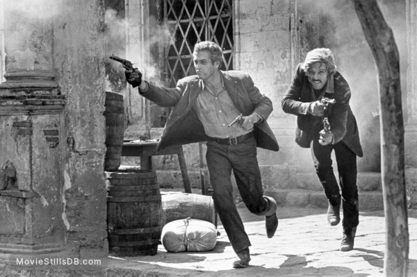 Butch Cassidy and the Sundance Kid - Publicity still of Robert Redford & Paul Newman