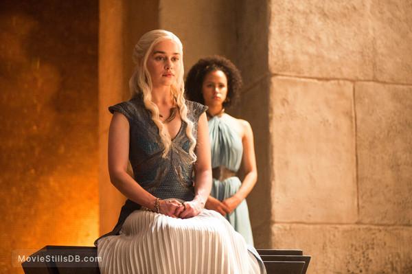 Game of Thrones - Publicity still of Emilia Clarke & Nathalie Emmanuel