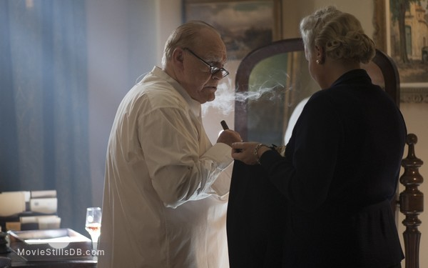 Churchill - Publicity still of Brian Cox & Miranda Richardson