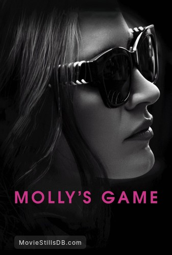 Molly's Game - Promotional art with Jessica Chastain