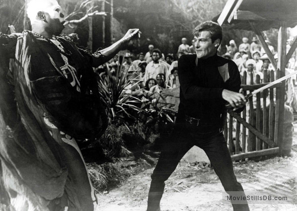 Live And Let Die - Publicity still of Roger Moore & Geoffrey Holder