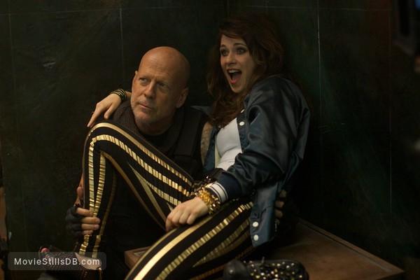 Rock the Kasbah - Publicity still of Bruce Willis & Zooey Deschanel