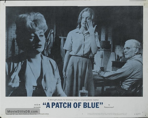 A Patch of Blue - Lobby card with Elizabeth Hartman, Shelley Winters & Wallace Ford