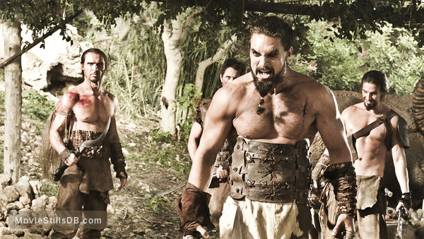 Game of Thrones - Publicity still of Jason Momoa & Dar Salim