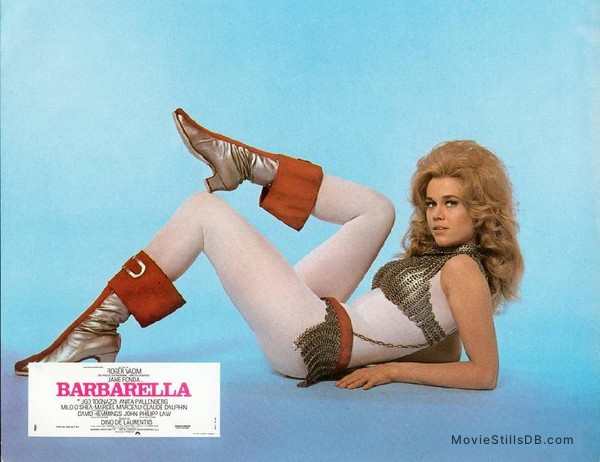 Barbarella - Lobby card with Jane Fonda