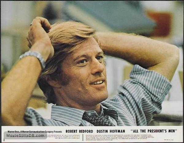 All the President's Men - Lobby card with Robert Redford