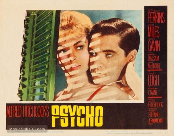 Psycho - Lobby card with Janet Leigh & John Gavin