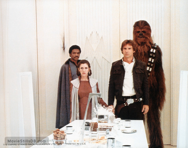 Star Wars: Episode V - The Empire Strikes Back - Publicity still of Harrison Ford, Carrie Fisher, Billy Dee Williams & Peter Mayhew