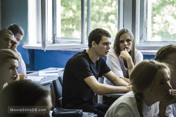 (M)uchenik - Publicity still of Pyotr Skvortsov & Aleksandra Revenko