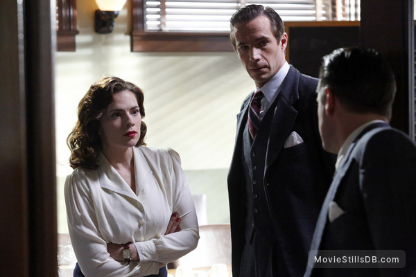 Agent Carter - Publicity still of Hayley Atwell, Shea Whigham & James D'Arcy