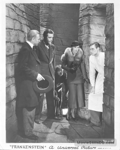 Frankenstein - Lobby card with Colin Clive, Dwight Frye, Mae Clarke, John Boles & Edward Van Sloan