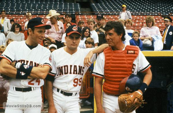 Major League - Publicity still of Corbin Bernsen, Tom Berenger & Charlie Sheen