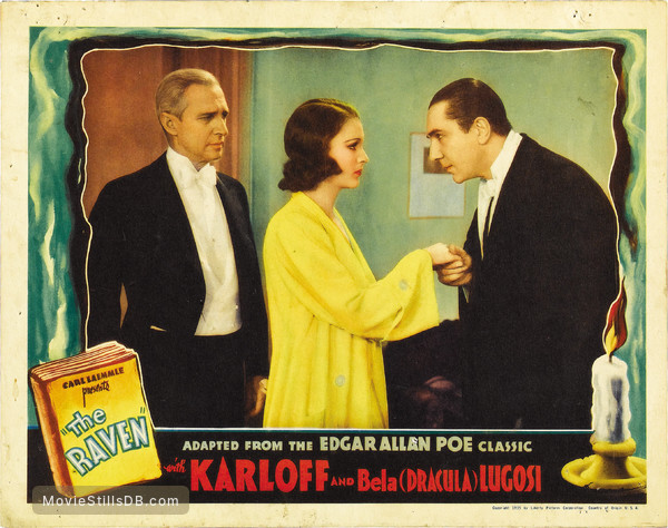 The Raven - Lobby card with Bela Lugosi, Irene Ware & Samuel S. Hinds