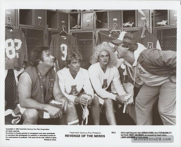 Revenge of the Nerds - Publicity still of John Goodman, Ted McGinley, Matt Salinger & Donald Gibb