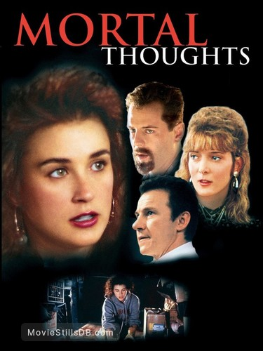 Mortal Thoughts - Promotional art with Demi Moore, Bruce Willis, Glenne Headly & Harvey Keitel