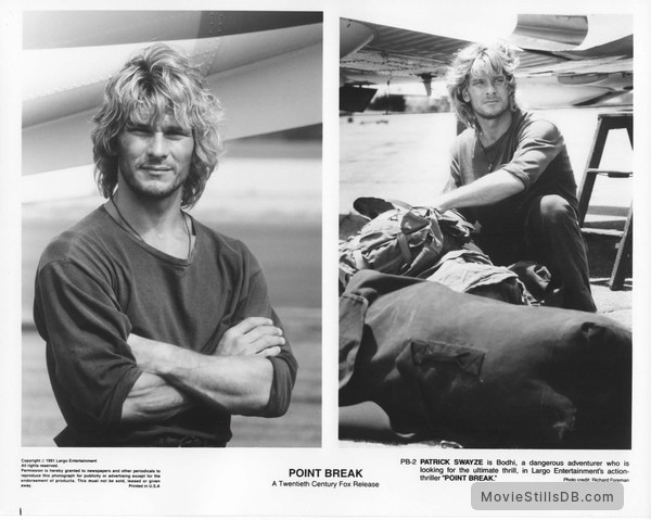 Point Break - Publicity still of Patrick Swayze