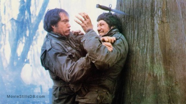 Southern Comfort - Publicity still of Powers Boothe & Fred Ward