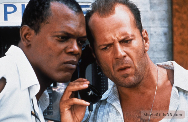 Die Hard: With a Vengeance - Publicity still of Bruce Willis & Samuel L. Jackson