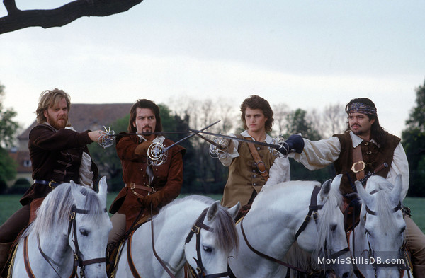 The Three Musketeers - Publicity still of Oliver Platt, Charlie Sheen, Kiefer Sutherland & Chris O'Donnell