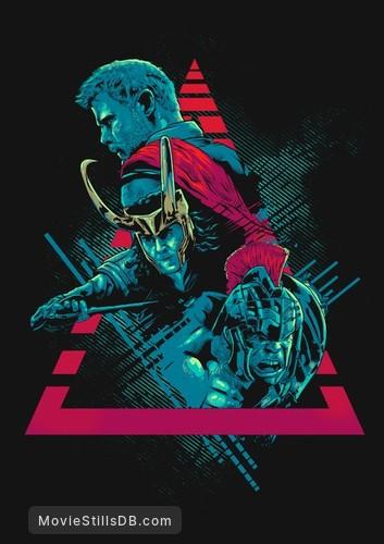 Thor: Ragnarok - Promotional art with Chris Hemsworth, Tom Hiddleston & Mark Ruffalo