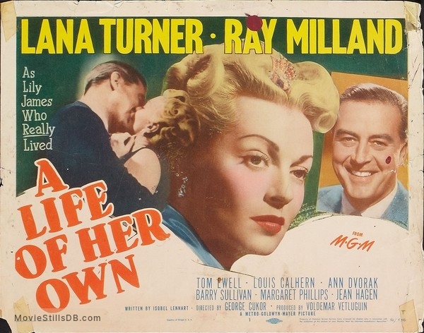 A Life of Her Own - Lobby card with Lana Turner & Ray Milland
