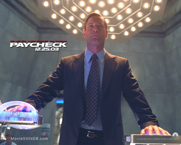 Paycheck - Wallpaper with Aaron Eckhart