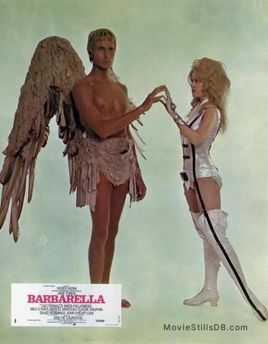 Barbarella - Lobby card with Jane Fonda & John Phillip Law